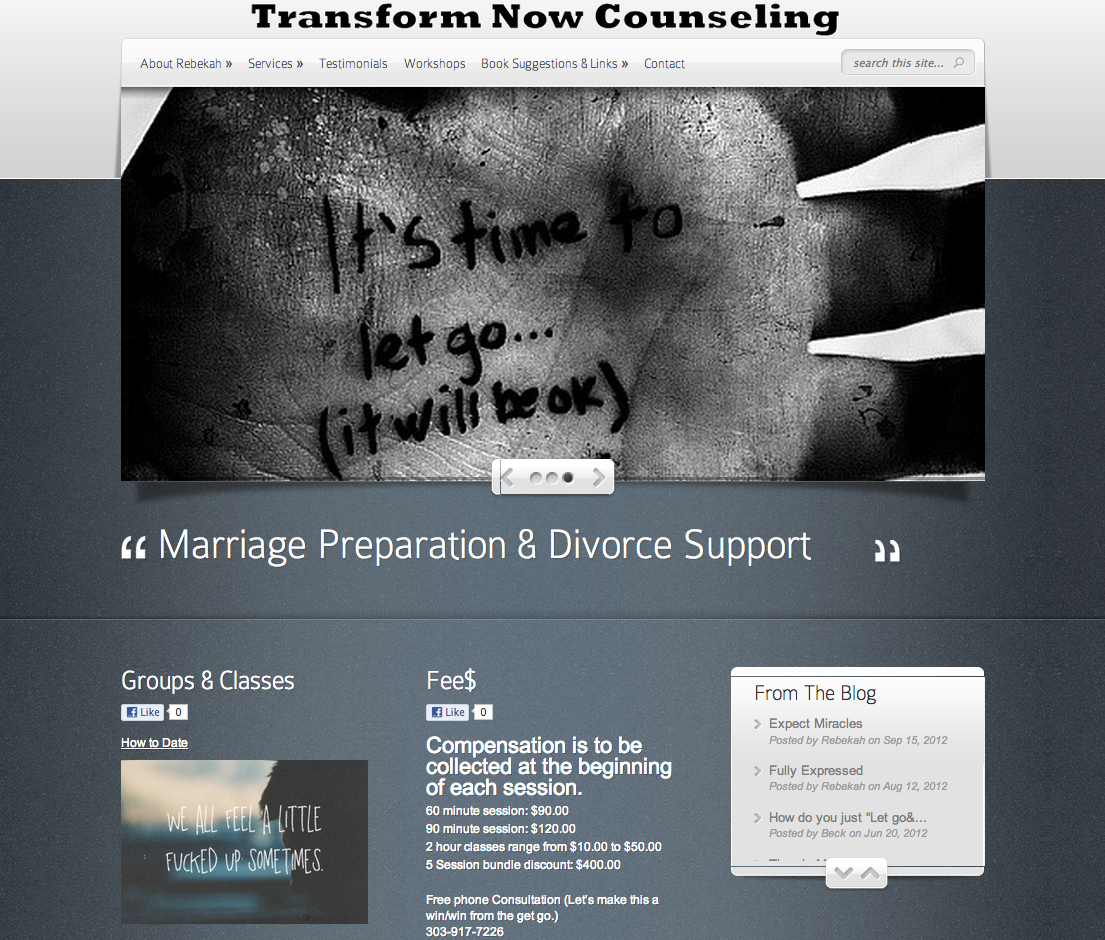 Small Business – Psychotherapy & Counseling Web Design