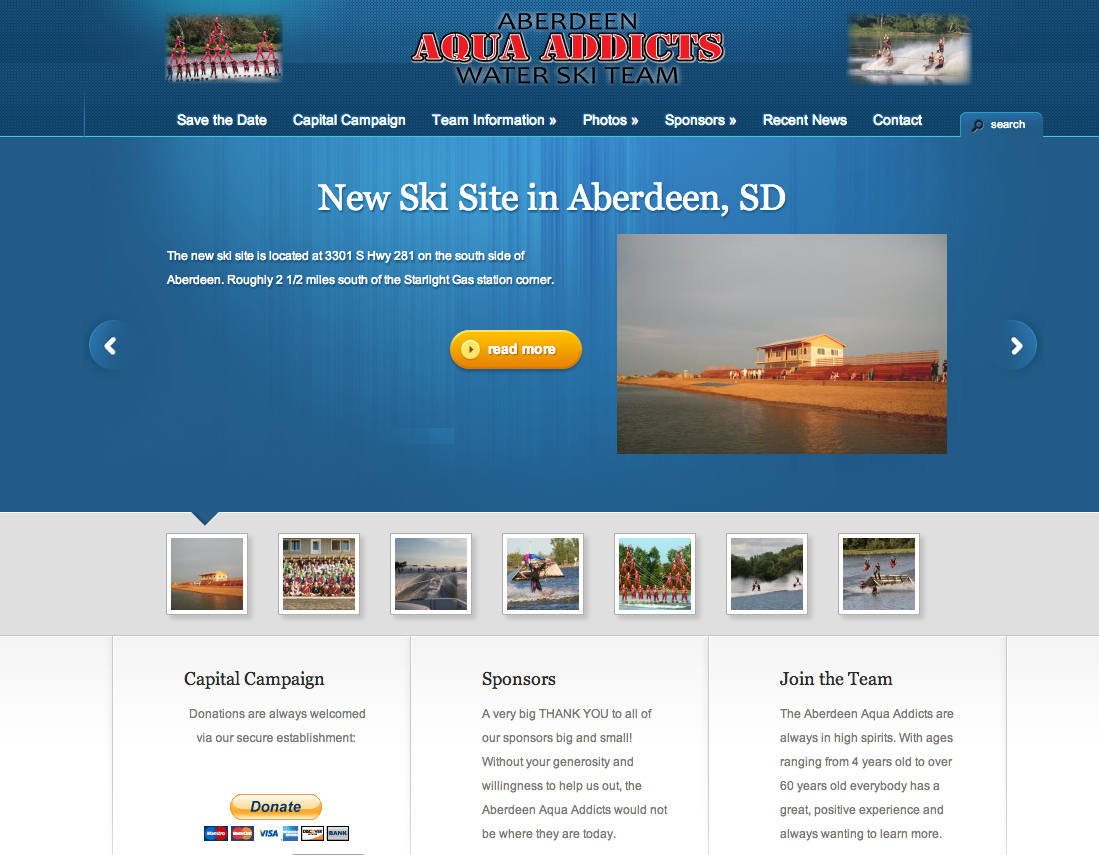 Aberdeen Aqua Addicts Water Ski Team Redesign