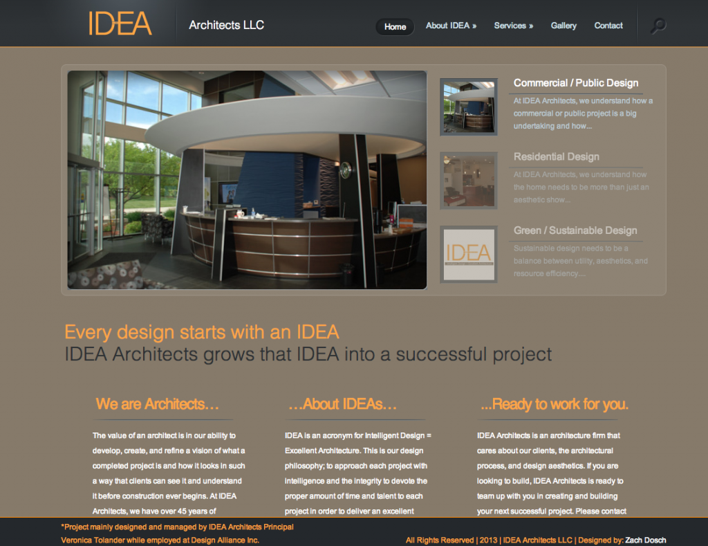 IDEA Architects LLC Website Design
