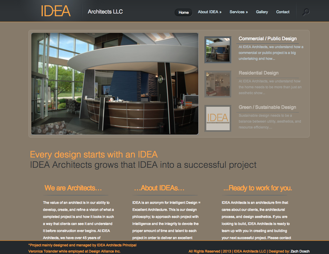 IDEA Architects Website Development